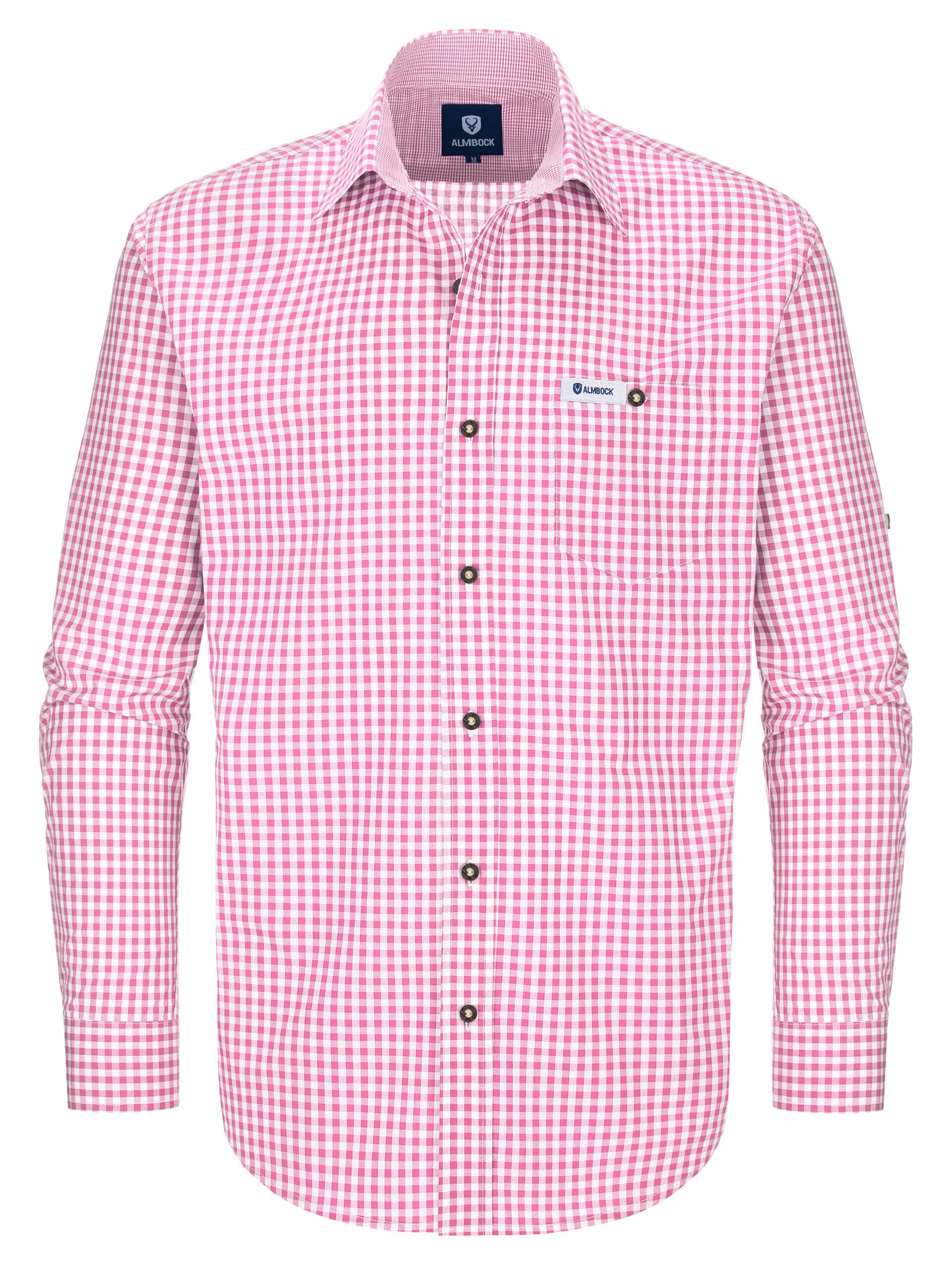 Trachtenhemd Alfons pink 863545c9d3