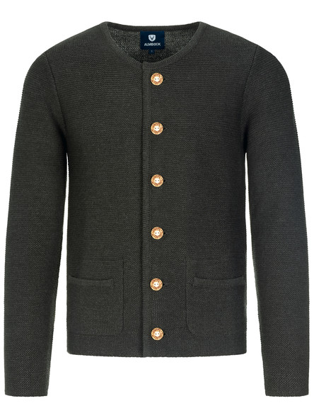 Bavarian cardigan Alfonsius black-anthrazite