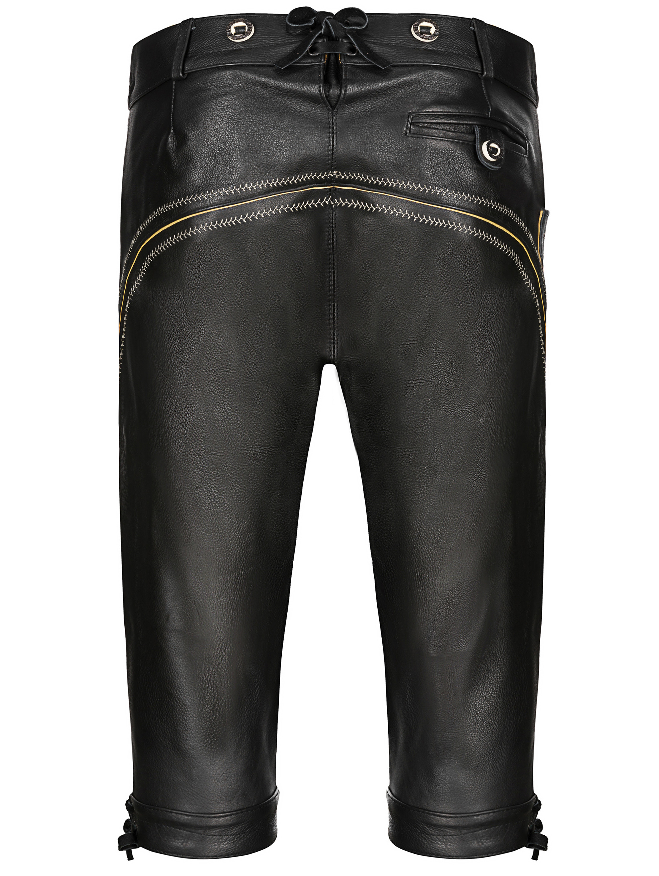 Almbock Costumes Leather Pants Mens Smooth LeatherLeather Pants Traditional Costume Black Nappa