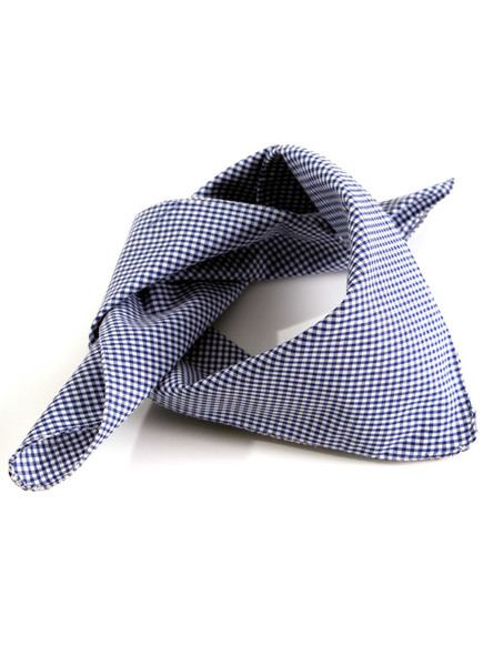 Bavarian scarve darkblue-checkered