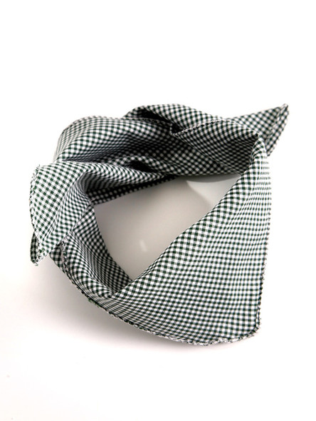 Bavarian scarve darkgreen-checkered