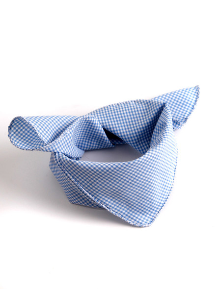 Bavarian scarve lightblue-checkered
